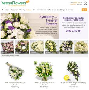 sympathy flowers uk