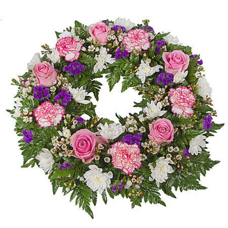 Classic Pink Wreath