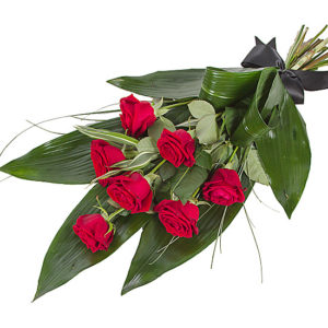 Elegant Red Rose Sheaf