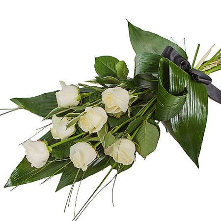 Elegant White Rose Sheaf