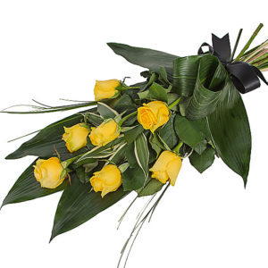 Elegant Yellow Rose Sheaf