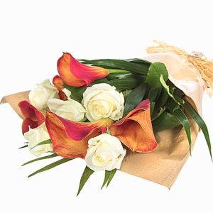 Orange Callas and Roses