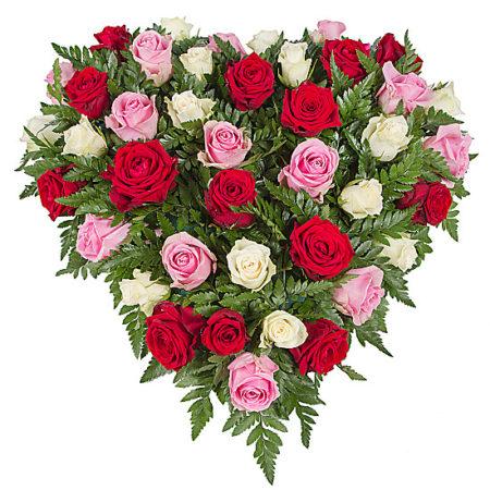 Rose Trio Heart